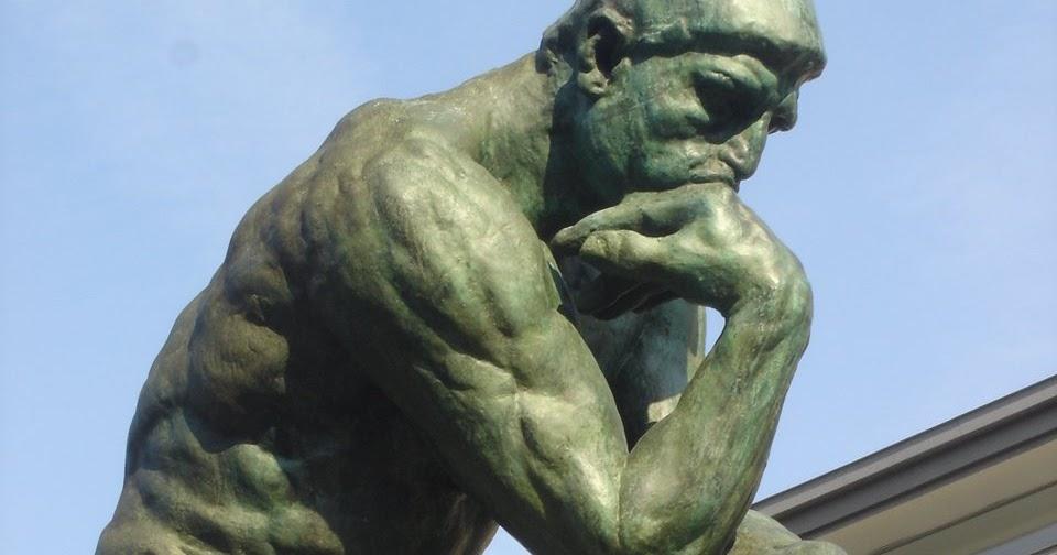 """Escultura de el pensador, preguntándose """"para qué"""""""